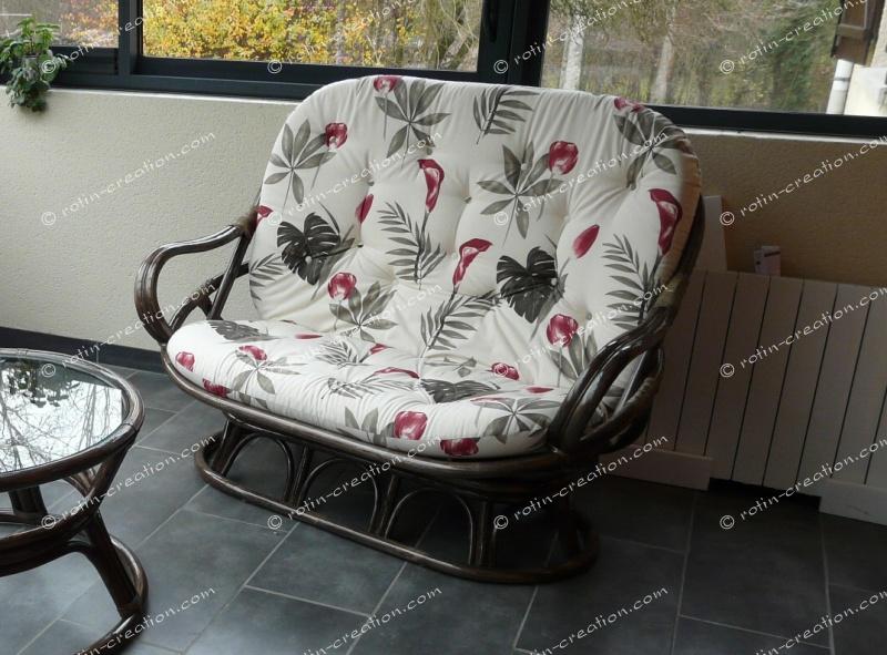 canap 2 places luna canap haut dossier ind modable. Black Bedroom Furniture Sets. Home Design Ideas